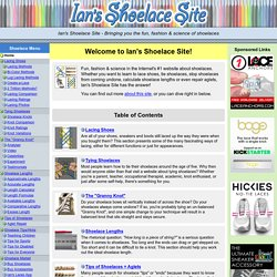 Ian's Shoelace Site - Introduction