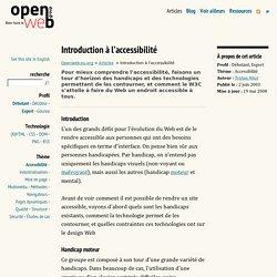 Introduction à l'accessibilité