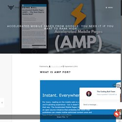 An Introduction to Accelerated Mobile Pages
