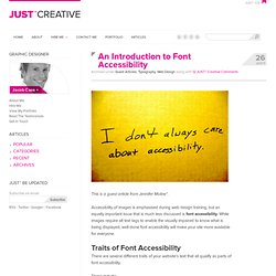 An Introduction to Font Accessibility