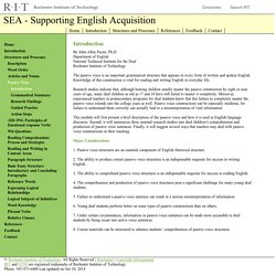 SEA - Supporting English Acquisition