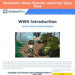 Introduction to WWII Activities
