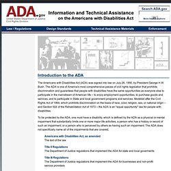 Introduction to the ADA