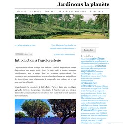 Introduction à l'agroforesterie