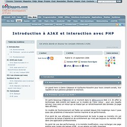 Introduction à AJAX et interaction avec PHP