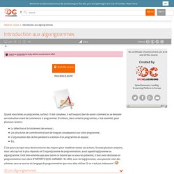 Introduction aux algorigrammes