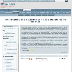 Introduction aux algorithmes et aux structures de donn es
