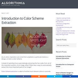 Introduction to Color Scheme Extraction - Algorithmia