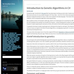 Introduction to Genetic Algorithms in C#
