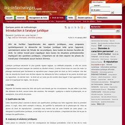 Introduction à l'analyse juridique