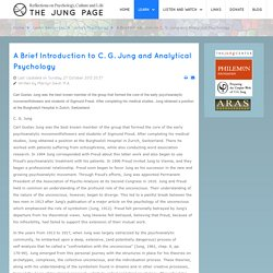 A Brief Introduction to C. G. Jung and Analytical Psychology