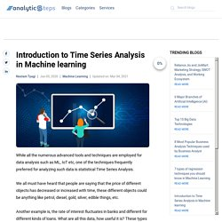 Introduction to Time Series Analysis in Machine learning