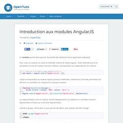 Introduction aux modules AngularJS - opentuto
