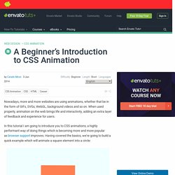 A Beginner's Introduction to CSS Animation - Tuts+ Web Design Tutorial