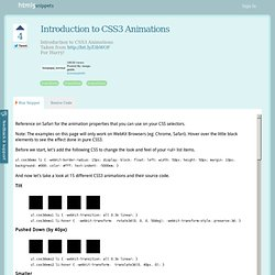 Introduction to CSS3 Animations