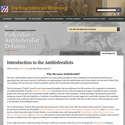 Introduction to the Antifederalists