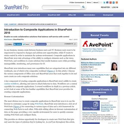 Introduction to Composite Applications in SharePoint 2010