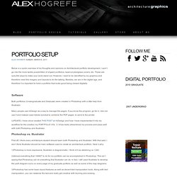 PORTFOLIO SETUP - PORTFOLIO INTRODUCTION - architectural rendering and illustration blog