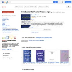 Introduction to parallel processing ...