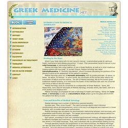 Greek Medicine: Introduction to Medical Astrology