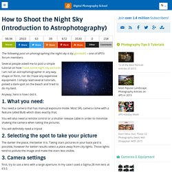 How to Shoot the Night Sky (Introduction to Astrophotography)