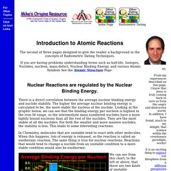Introduction to Atomic Reactions