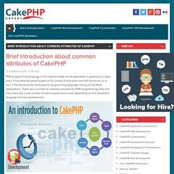 Brief introduction about common attributes of CakePHP