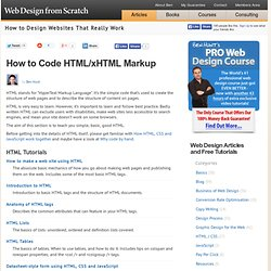 Introduction to HTML, Basics of HTML and xHTML Markup