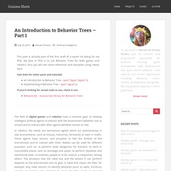 An Introduction to Behavior Trees - Part 1