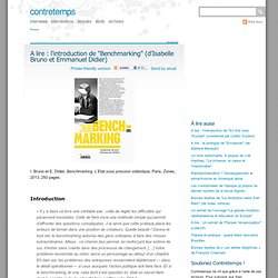 "A lire : l'introduction de ""Benchmarking"" (d'Isabelle Bruno et Emmanuel Didier)"