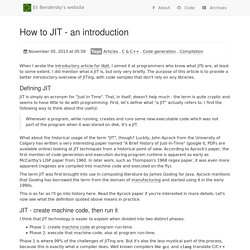 How to JIT - an introduction - Eli Bendersky's website