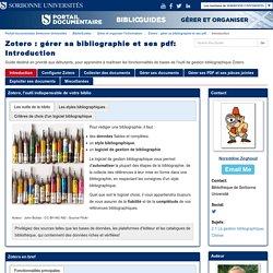 Introduction - Zotero : gérer sa bibliographie et ses pdf