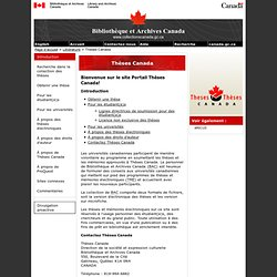Thèses Canada