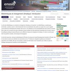 Guide thématique de l'Enssib - Bibliothèques et changement climatique