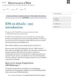 ES6 en détails : une introduction - Bidouilleux d'Web