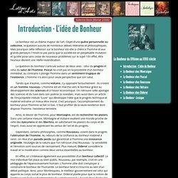 Introduction - L'idée de Bonheur – Lettres & Arts