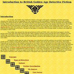 Introduction to British Golden Age Detective Fiction