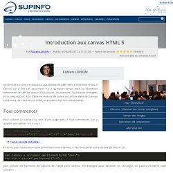 Introduction aux canvas HTML 5