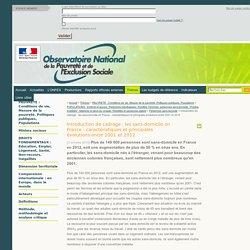 Introduction de cadrage : les sans-domicile en France - caractéristiques et principales évolutions entre 2001 et 2012