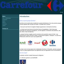 Introduction - Carrefour