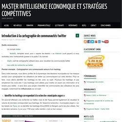 Introduction à la cartographie de communautés twitter – Master Intelligence Economique et Stratégies Compétitives