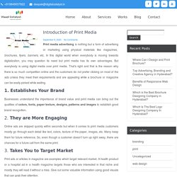 Introduction of Print Media – Visual Catalyst