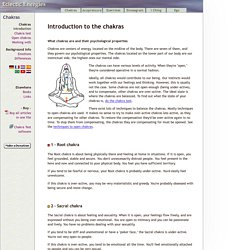 Description of the Chakras