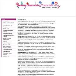 Online Chemistry Tutorials