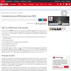 Introduction au chiffrement avec DES