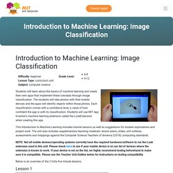 Introduction to Machine Learning: Image Classification