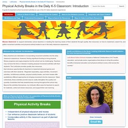 Introduction - Physical Activity Breaks in the Daily K-5 Classroom (Eden / 90)