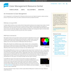 An Introduction to Color Management