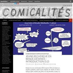 Jeune recherche en bande dessinée : introduction (1/2)