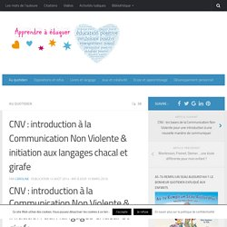 Introduction à la Communication Non Violente (CNV)